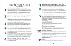 How to Write a Scene, now in handy two-page form