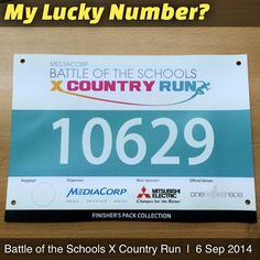 Is this my next Lucky Number? MediaCorp Battle of the Schools X Country Run 2014 Race Bibs, Lucky Number, Schools, Battle, Numbers, Running, Country, Instagram Posts, Rural Area