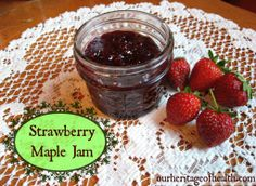 Strawberry Maple FreezerJam (strawberries, lemon zest, maple syrup - dbled the recipe, really good done in small batch style. Next time less sweet?)