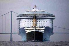 Titanic vorn im Vergleich zu einem modernen Kreuzfahrtschiff!