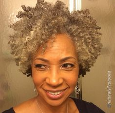 Silver Grey Crochet Braids Hairstyles For Women Over 50 Short ...