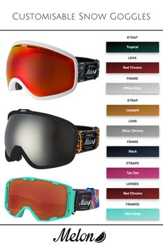 15231bf46696 Design Your Own Custom Ski and Snowboard Goggles - Melon Optics