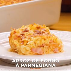 Arroz de forno à parmegiana - Arroz de forno à parmegiana - Good Food, Yummy Food, Salty Foods, Diy Food, Food Dishes, Food Videos, Food To Make, Food Porn, Food And Drink