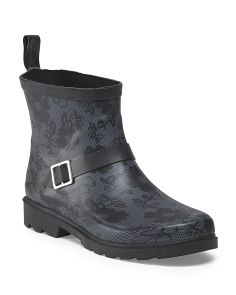 Blossom Lace Printed Rain Boot