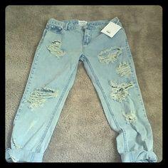 4cca086bc9 One Teaspoon Jeans Light denim one teaspoon jeans. Awesome Baggies style.  In Mickey color. Never worn. One Teaspoon Jeans Boyfriend