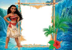 Free Moana Birthday Invitation Template | Drevio Invitations Design