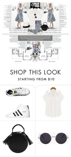 """1302.Style's Tip: How to wear an Asimetric Skirt?"" by marymary91 ❤ liked on Polyvore featuring Paul Frank, adidas Originals, Ryder and plus size clothing"
