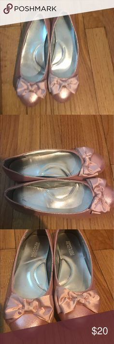 Pink Girls flats Beautiful pink with satin bow flats Kenneth Cole Reaction Shoes Dress Shoes