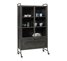 vitrinenschrank storae schrank metall schwarz. Black Bedroom Furniture Sets. Home Design Ideas