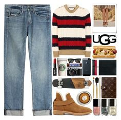"""The New Classics With UGG: Contest Entry"" by barbarela11 ❤ liked on Polyvore featuring Gucci, Helmut Lang, UGG, Polaroid and Tomasini"