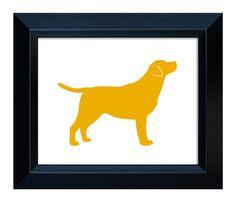 Labrador Retriever Art (version 1) - Hand-cut Dog Silhouette - 8x10 on Etsy, $19.00
