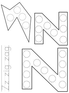 DLTK's Template Printing Dot Letters, Alphabet Letter Crafts, Preschool Letters, Painted Letters, Zoo Activities, Feelings Activities, Toddler Sunday School, Do A Dot, Abc For Kids