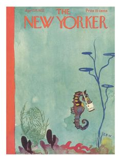 E.B. White's only cover, love the story behind it too.