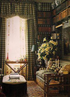 bibliothèque de charme à l'anglaise