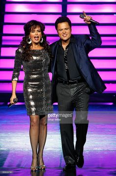 Marie Osmond and Donny Osmond perform in the Donny & Marie variety show at the Flamingo Las Vegas December 3, 2008 in Las Vegas, Nevada.