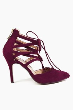 Glance Down Heels - Burgundy
