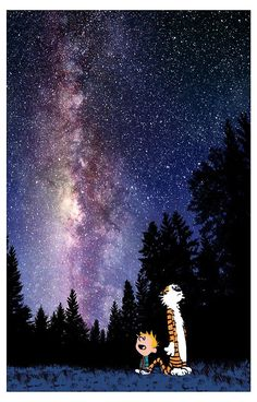 If People Sat Outside. And Looked At The Stars Each Night. I'll Bet They'd Live A Lot Differently. Calvin and Hobbes Calvin Y Hobbes, Calvin And Hobbes Tattoo, Cute Wallpaper For Phone, Galaxy Wallpaper, Cellphone Wallpapers, Calvin And Hobbes Wallpaper, Look At The Stars, Hobbs, Night Skies