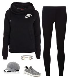 """""""all black"""" by keswenson on Polyvore featuring James Perse, NIKE, David Yurman, Vianel, adidas Originals, women's clothing, women, female, woman and misses"""