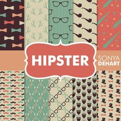 Digital Papers - Hipster FREEBIE
