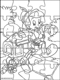Printable jigsaw puzzles to cut out for kids Disney 213 Coloring Pages
