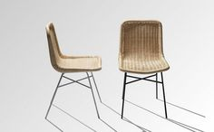 Contemporary rattan chair AR 22 by Abraham & Rol Yota Design