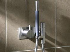VOLA 172 Miscelatore per doccia con doccetta in acciaio cromato