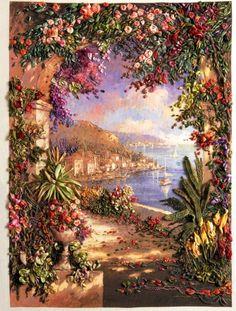 Floral Vista ~ Stumpwork embroidery by Di van Niekerk