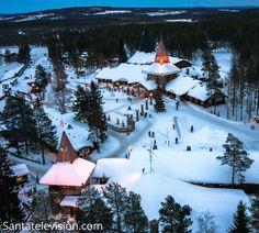 Santa Claus Village in Rovaniemi in Lapland by air - Finland - Father Christmas Santa Claus Village, Santa's Village, Lappland, The Places Youll Go, Places To Go, Father Images, Lapland Finland, Arctic Circle, Lofoten