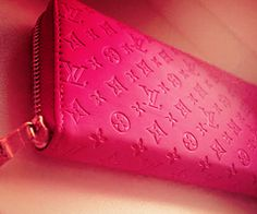 LV wallet love the pink