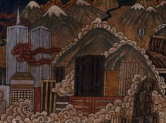 Gade, Tibetan (b. 1971), New Tibet, 2006 (detail) mineral color and acrylic on Tibetan handmade paper 7 x 46 inches, Gift of funds from Polly and Mark Addison to the Polly and Mark Addison Collection,CU Art Museum, University of Colorado at Boulder, Photo: Jeff Wells, (c) Gade, Asian Art Collection