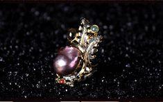 925シルバー natural  Baroque pearls Ring Tourmaline lapis lazuli Garnet Emerald(Etsy のmikaincより) https://www.etsy.com/jp/listing/573502734/925shirub-natural-baroque-pearls-ring