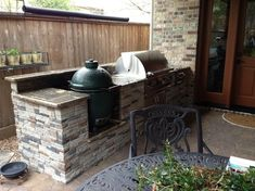 "Houston Patio With Built-in Big Green Egg ""Nest"" - Contemporary - Landscape - Houston - Outdoor Homescapes of Houston"
