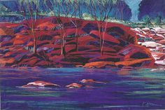 "#pastel#painting#landscape#Texas#artist 32""x40"" ""Shoal Creek Shadows"". Sold."