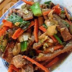 Bisteces de res estilo oriental @ allrecipes.com.mx