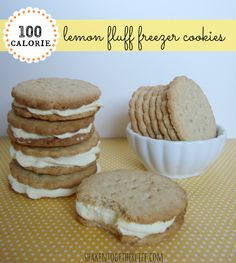 "DO YOU LOVE LEMON??  Then here's a Nice Holiday Recipe for Guests on a Diet:  ☺☺ ""100 calorie lemon fluff freezer cookies"" ~ recipe at shakentogetherlife.com"