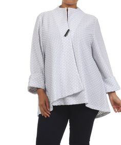 This White & Black Diamond Jacket - Plus by Come N See is perfect! #zulilyfinds