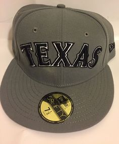 NEW ERA 59FIFTY TEXAS RANGERS HAT ON FIELD TEXAS GRAY MLB FITTED HAT-7 1 4c027d162e1