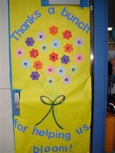 classroom door decorations!  Love this idea! For teacher appreciation week!!!
