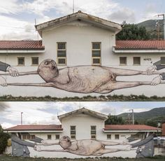 "Brilliant new mural called ""Rip Off"" by @whoisnemos from Italy (http://globalstreetart.com/nemos)."