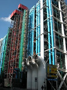 Im going to see this this summerrrrr! Public Architecture, Commercial Architecture, Space Architecture, Contemporary Architecture, Renzo Piano, Richard Rogers, Pompidou Paris, Centre Pompidou, Modern Masters