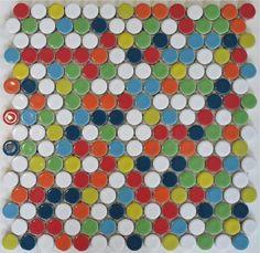ModDotz Gumball blend penny round tile for bathroom tile, kitchen backsplash, flooring and swimming pools.