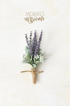 Wedding Flowers - Dress your Lapel with style! This faux boutonniere made with purple lavender, white budding accents, light green/gray dusty miller Sage Wedding, Rustic Wedding Flowers, Wedding Flower Arrangements, Purple Wedding, Floral Wedding, Wedding Bouquets, Purple Green Weddings, Wedding Lavender, Wedding Favours