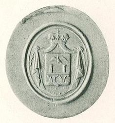 Seal with the coat of arms of Princess Désirée Clary (1777-1860), as wife of Jean Baptiste Bernadotte, Prince of Ponte Corvo.