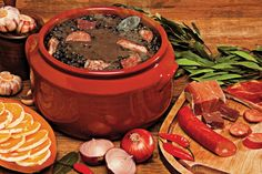 Feijoada - Brasil uploaded by Luh FMD on We Heart It Brazilian Dishes, Brazilian Recipes, Beef Recipes, Cooking Recipes, Stove Oven, English Food, Pot Roast, Food Network Recipes, Sausage