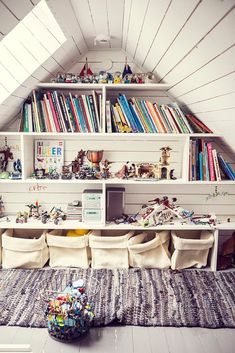 Inspiring Attic bedroom dimensions,Attic storage kings cross and Attic renovation ideas. Attic Library, Attic Playroom, Playroom Design, Attic Rooms, Attic Spaces, Attic Bathroom, Attic Closet, Attic Office, Attic Wardrobe