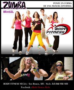 """Body Fitness en yecla te propone una forma divertida de ponerse en forma """"Zumba"""", ven e infórmate!!!!"""