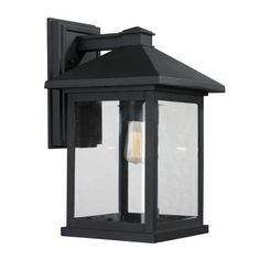 Filament Design Malone 1-Light Black Outdoor Wall Sconce-CLI-JB037692 - The Home Depot