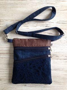 Best 12 Denim bag Unisex bag Gift for him Gift for her Everyday от BYildi – SkillOfKing. Diy Messenger Bag, Hip Purse, Jeans And Vans, Back Bag, Recycled Denim, Denim Bag, Cloth Bags, Fashion Bags, Purses And Bags