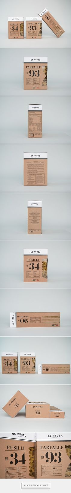 De Cecco Pasta packaging designed by Anna Ahnborg - http://www.packagingoftheworld.com/2015/08/de-cecco-pasta-student-project.html - created via http://pinthemall.net