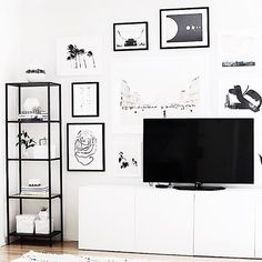 IKEA VITTSJO + BESTA - An overcast Saturday = permission to catch up on shows this afternoon | : @homeyohmy